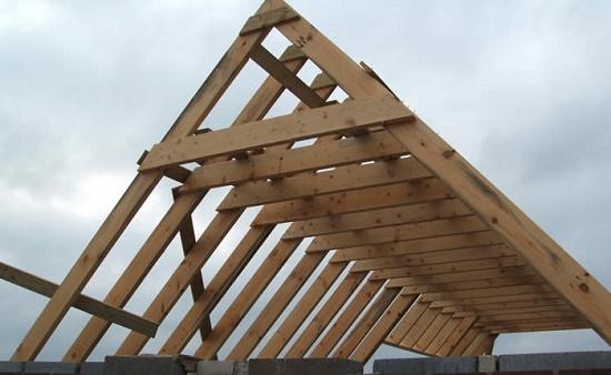 Стропильная система для двускатной крыши беседки